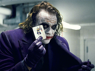 The Joker The Dark Knight.