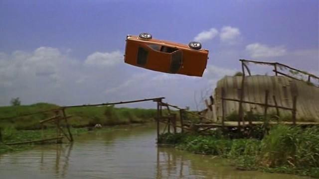 James Bond Flying Car Accident