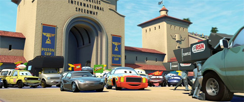 Cars Pizza Planet