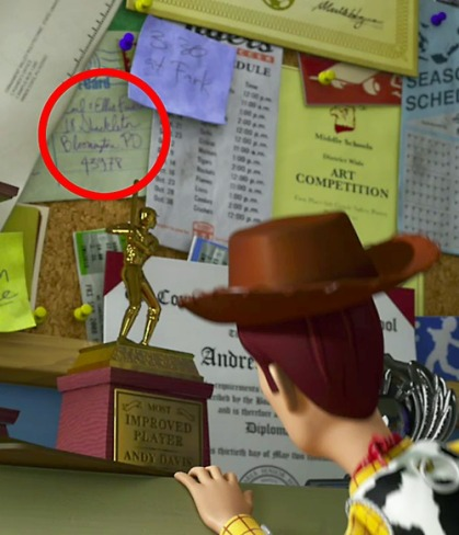 Up Postcard in Toy Story 3