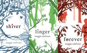 The books in the Shiver Trilogy. They so pretty.
