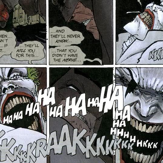 joker laughs to death