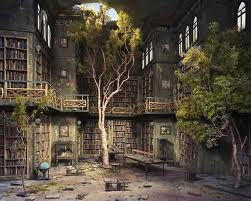 Can't tell if this picture is real or not, but THAT LIBRARY HAS A TREE GROWING IN IT!!