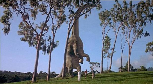 In less then 20 minutes we're already face to face with our first dinosaur