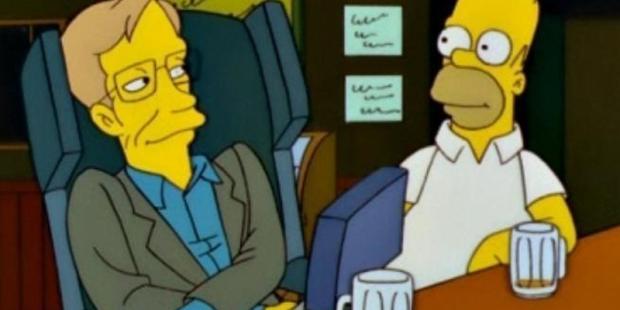 Simpsons Stephen Hawking