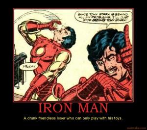 Iron Man drunk