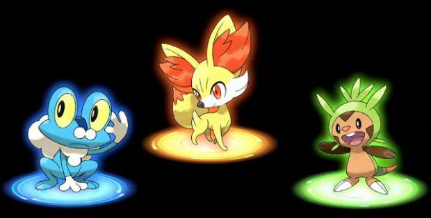 Pokemon XY Starters