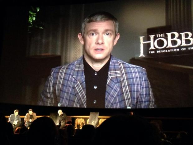 Martin Freeman couldn't make the event and sent in a personal message to the fans