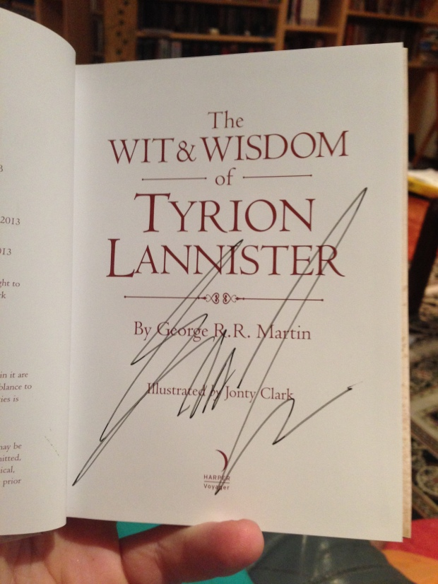 Wit and Wisdom of Tyrion Lannister House of Geekery
