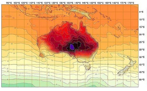 Australia temperature
