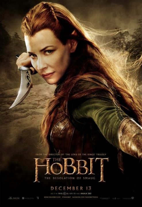 Evangeline-Lilly-as-Tauriel-The-Hobbit-The-Desolation-Of-Smaug-poster