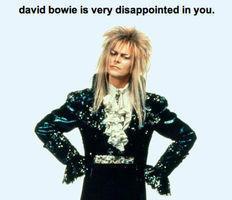 David Bowie is ashamed