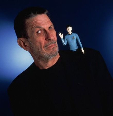 Leonard Nimoy with Spock Doll