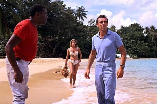"The filmmakers weren't much better. In this scene, Bond orders his Jamaican offsider to ""fetch [his] shoes."""