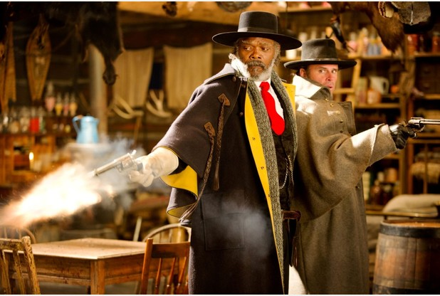 Undated Film Still Handout from THE HATEFUL EIGHT. Pictured: SAMUEL L. JACKSON. See PA Feature FILM Reviews. Picture credit should read: PA Photo/The Weinstein Company. WARNING: This picture must only be used to accompany PA Feature FILM Reviews.