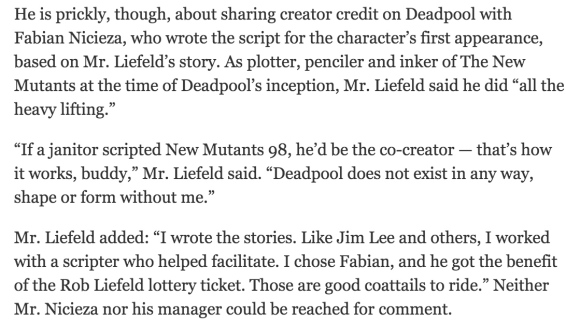 Liefeld New York Times